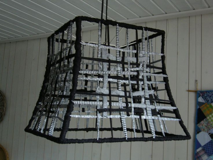 A lampshade of Zpagetti by Monique vd Weij