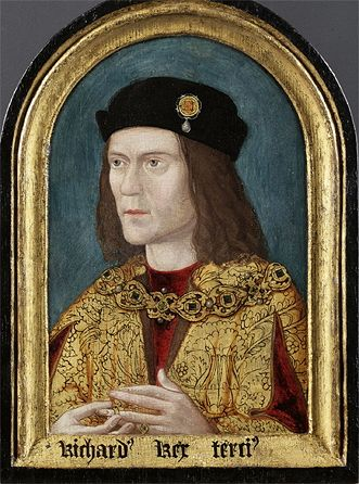 Richard III 1520, an example of early propaganda.  This portrait was heavily altered to make Richard look sinister.  The portrait was restored, revealing a much kinder face.