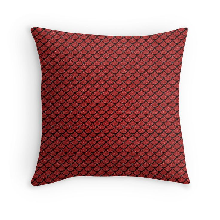 Red Mermaid Throw Pillow - Available Here: http://www.redbubble.com/people/rapplatt/works/12568185-red-mermaid?p=throw-pillow