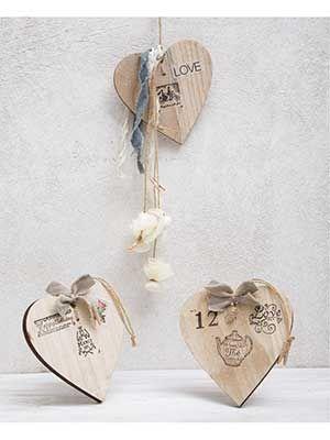 #wood #heart #favors
