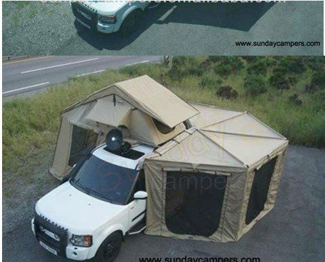 Car Roof Top Tent With Side Awning Fox Awning China