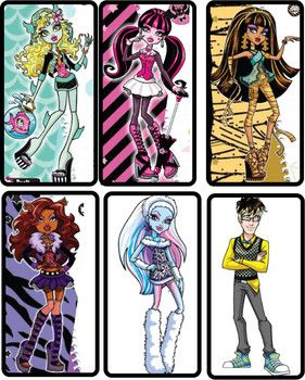 MH Bookmarks`, Monster High, Bookmarks - Free Printable Ideas from Family…
