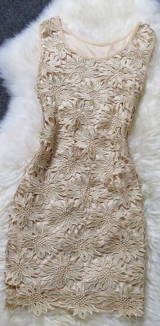 Gorgeous ~ Solid openwork #Lace #Dress