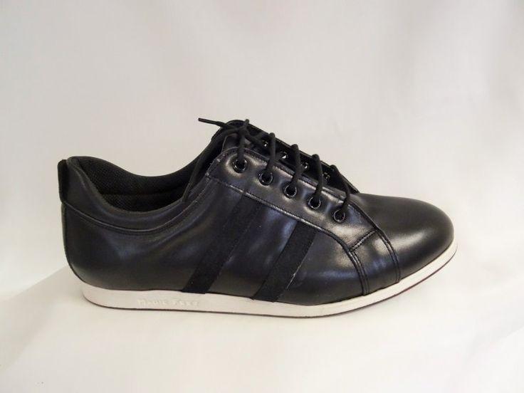 Chaussure de danse et haut de gamme, fabrication française, 100% personnalisable. Souple et confortable. Ici en  cuir noir.