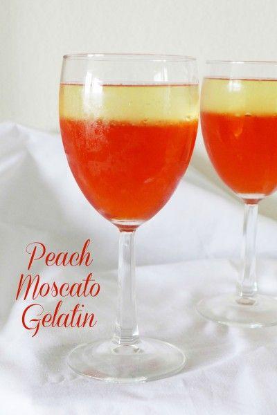 Peach Moscato Gelatin