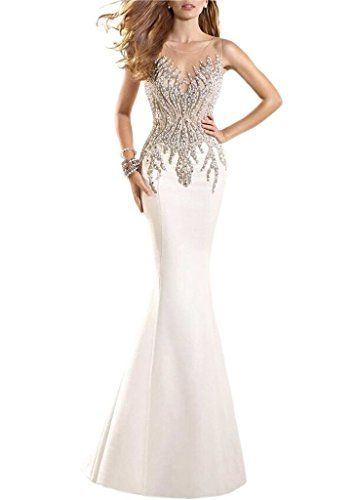 New Prommay Pageant Prom Evening Crystal Illusion Back Mermaid Wedding Dress online. Enjoy the absolute best in Joie Dresses from top store. Sku qzyn20489rxbn82307