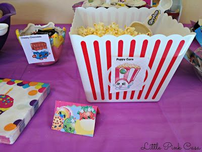Poppy Corn for a Shopkins Birthday Party on a Budget! #Shopkins #ShopkinsBirthdayParty #PoppyCorn