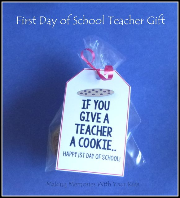 First Day Of School Teacher Gift Printables - 25 simple ...