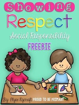 This Showing Respect FREEBIE is perfect for when you teach your students about respect and the different ways they can show themselves, others, and their school respect! It has 3 pages of printable activities to go along with your social responsibility le