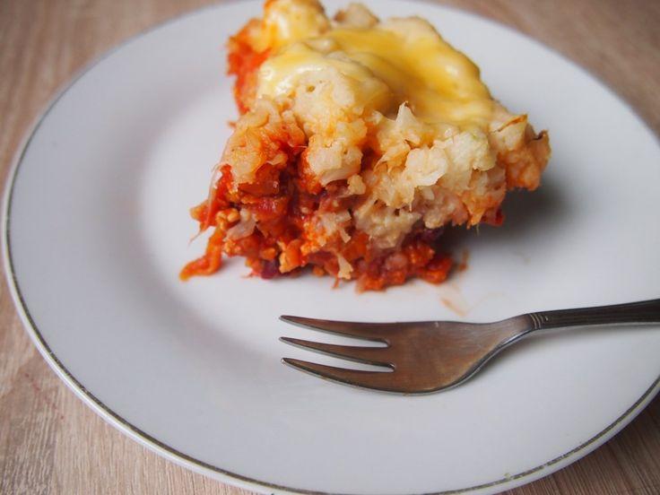 Zapiekanka z indyka z pomidorami i kalafiorem | Dom Gosi