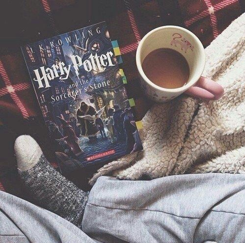 book, chocolate, coffee, Harry Potter<<<<<AND FOOT OMG I DIDNT KNOW WHTA THAT WAS AT FIRST I FREAKED OUT MY SISTER TOLD ME IT WAS A FOOT