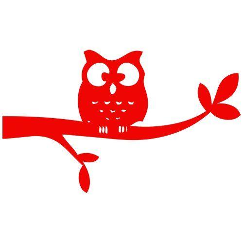 Night owl decal sticker red 5 inch stickerslug http www