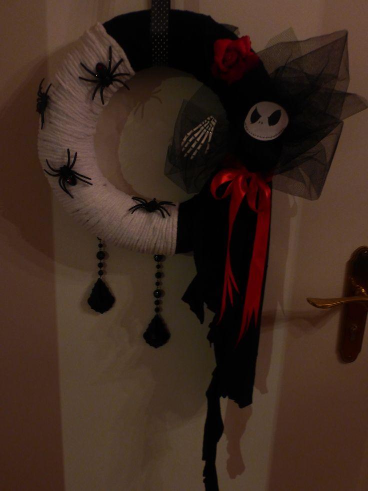 My DIY Halloween wreath! I love it!!!