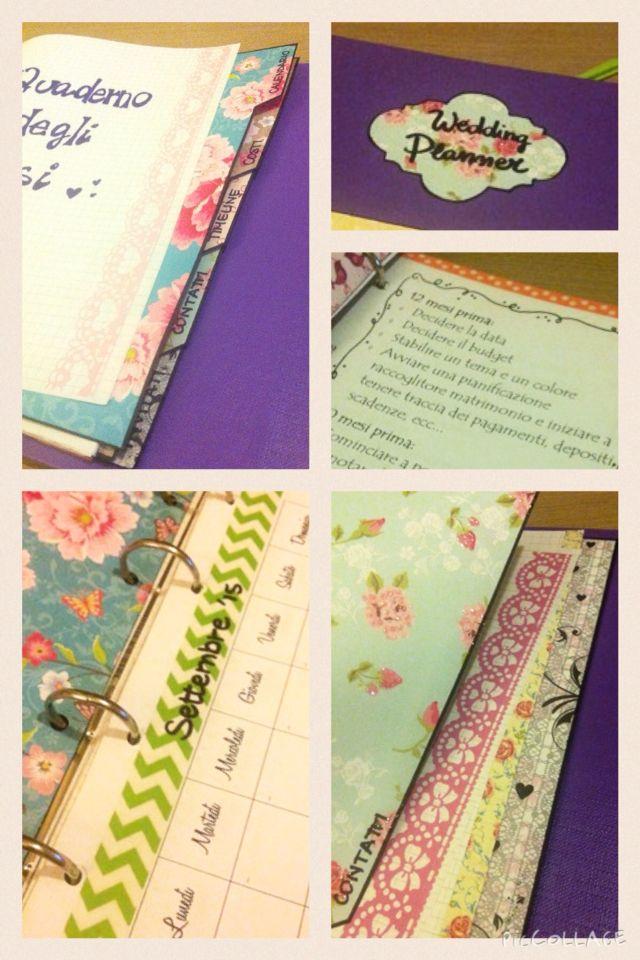 Il quaderno degli sposi #wedding #organizer #planner #scrap