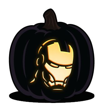 Iron Man pumpkin! Consider it done!