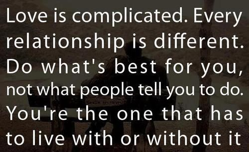 Love Complicated Quotes Relationship. QuotesGram