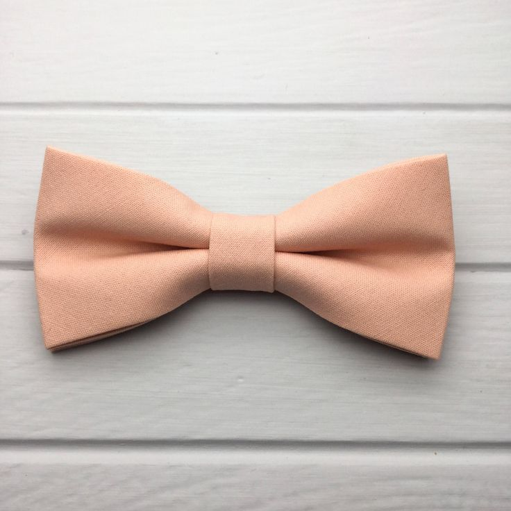 Mens Bow Tie, Peach Bow tie, Plain BowTie, Solid Peach Bow tie, Bow Tie for Wedding, Groom Groomsmen Bow Tie, Kid Bow Tie, Baby Boy Bow Tie by GloiberryBowtie on Etsy https://www.etsy.com/uk/listing/559269211/mens-bow-tie-peach-bow-tie-plain-bowtie