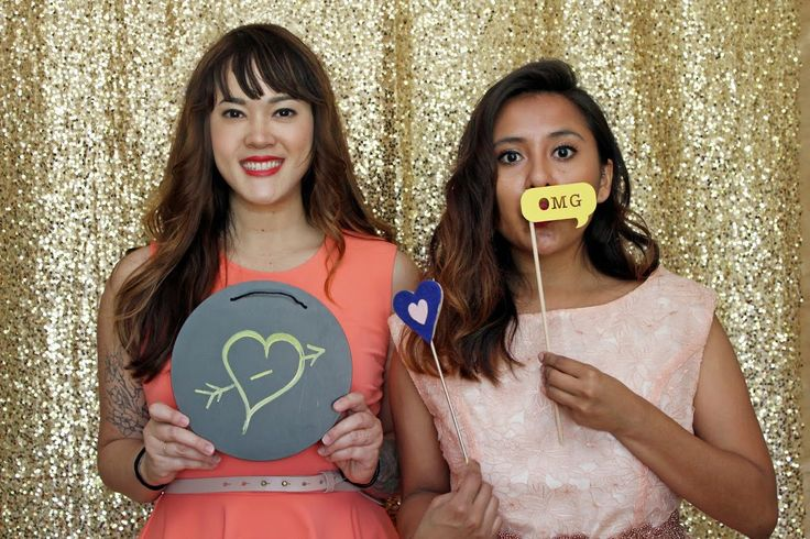 Our Gold Sequin Backdrop = THE perfect photo booth background!