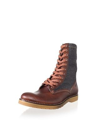 Wolverine No. 1883 Men's Seger Engineer Boot (Tan/Dark Grey)