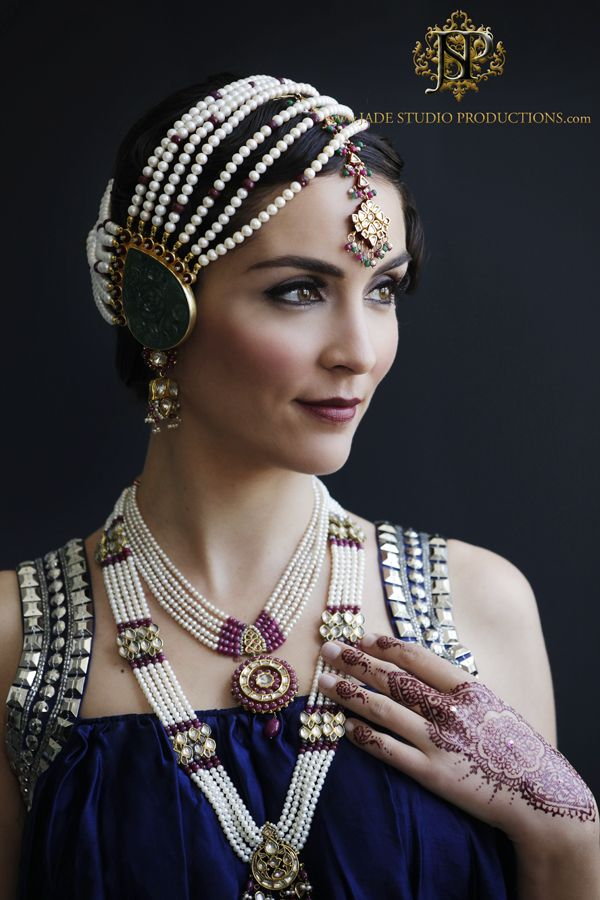 Art deco style and South Asian bridal jewels