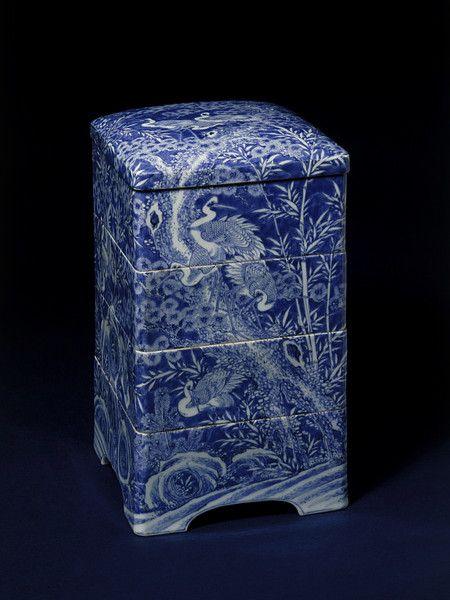 Box - Seto, Japan. ca. 1860. Porcelain. http://collections.vam.ac.uk/item/O14609/box/