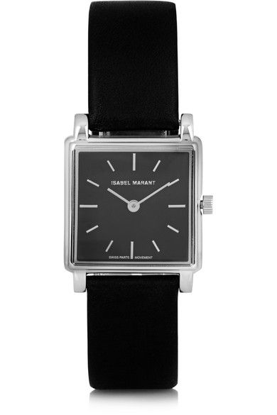 Isabel Marant | Stainless steel and leather watch | NET-A-PORTER.COM