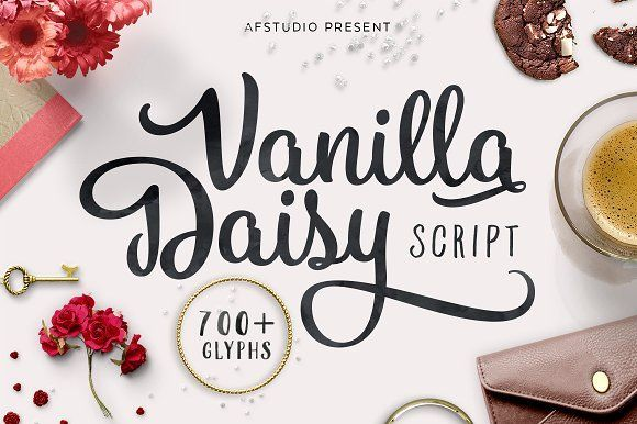 Vanilla Daisy Script by AF Studio on @creativemarket
