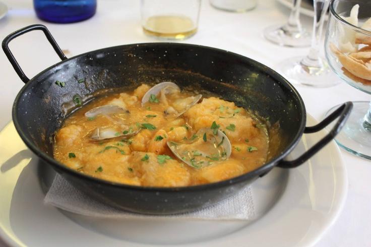 Monkfish stew. ( Monkfish, prawns, clams)