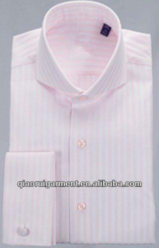Mens orange striped cutaway collar french dress shirt, View men orange striped french dress shirts, Qiaorui Product Details from Yiwu Qiaorui Garment Co., Ltd. on Alibaba.com