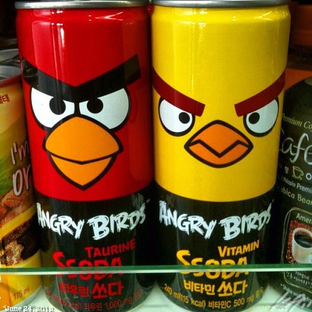 韓国食材店で #angrybird #can #soda #korean #grocery #philippines  #フィリピン #アングリーバード