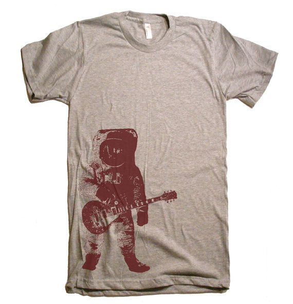 Hey, I found this really awesome Etsy listing at https://www.etsy.com/listing/108694534/mens-astronaut-guitar-outer-space-t