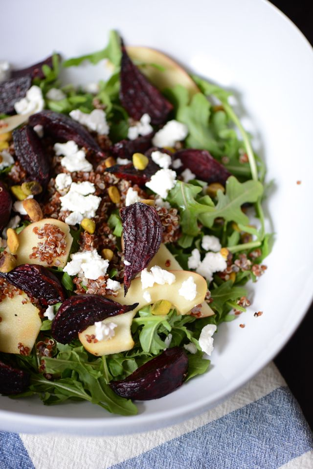 Roasted Beets With Edamame & Arugula Recipe — Dishmaps