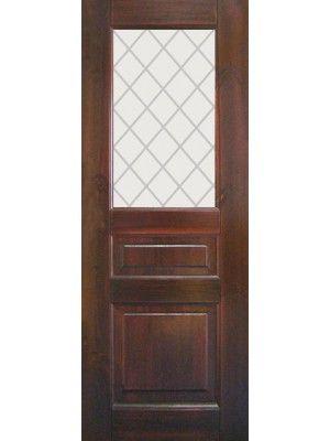 Дверь Классик Остекленная Темный Орех