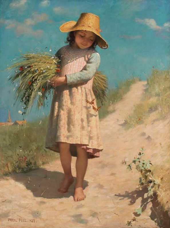 Paul Peel. The Young Gleaner or The Butterflies. | AGO Art Gallery of Ontario