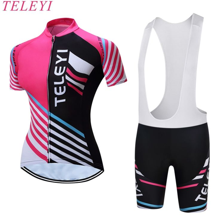 teleyi Women's dot printed sublimation cycling clothing short sleeves cycling shirts trajes de ciclismo raiders jersey #Affiliate