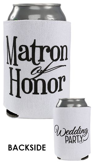 Wedding Party Collapsible Can Cooler Full Color