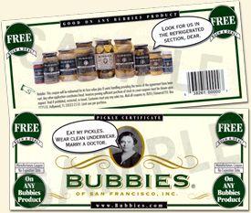 Bubbies Pickle Certificates
