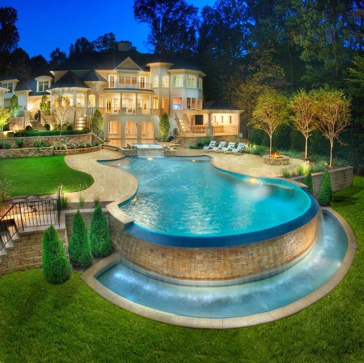 beautiful pool turn small bedroom into closet dressing room a girl can dream beautiful home dream house back yard i want this pool so