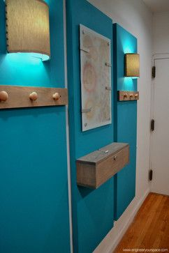 How to decorate a big blank wall and create an entryway - eclectic - entry - new york - Engineer Your Space