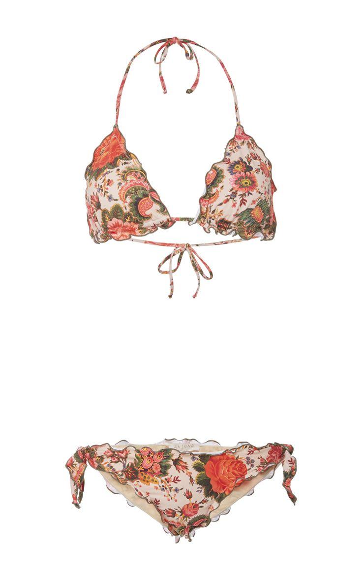Gaelle Floral Bikini Set by ANJUNA for Preorder on Moda Operandi