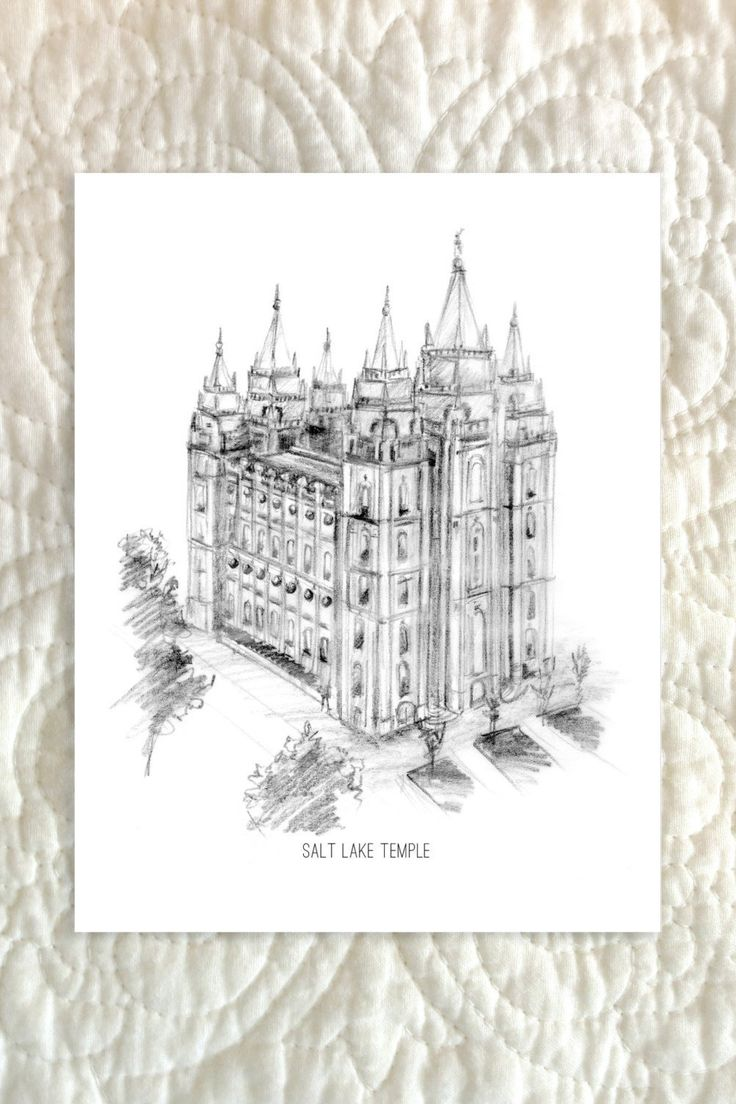 16 best lds temples images on pinterest lds temples hand drawings items similar to salt lake city temple greeting card on etsy kristyandbryce Image collections