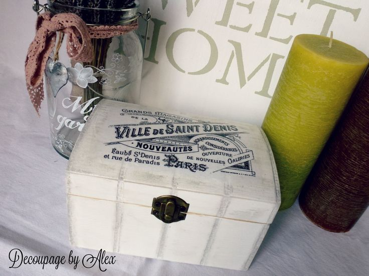Decoupage white box