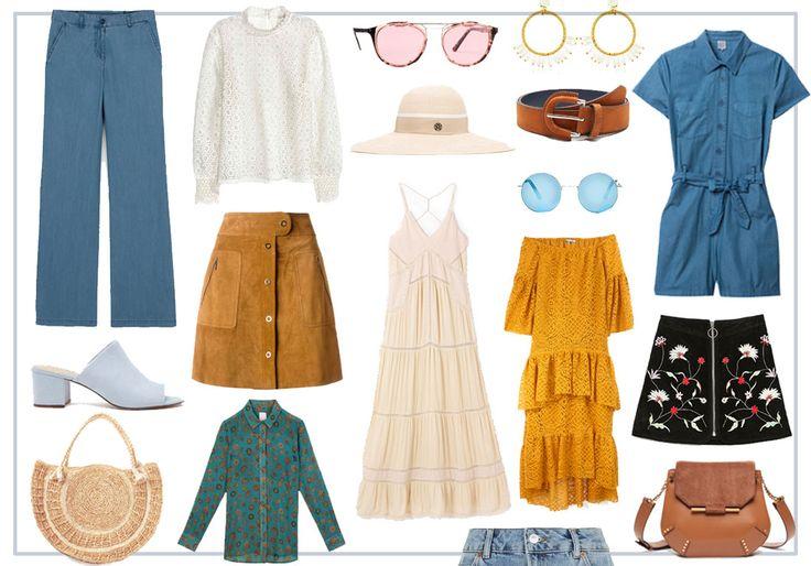 Mode année 70 : 30 pièces années 70 à shopper  - Elle