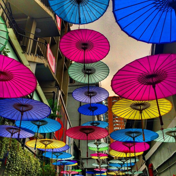French Concession, umbrellas, Shanghai, China