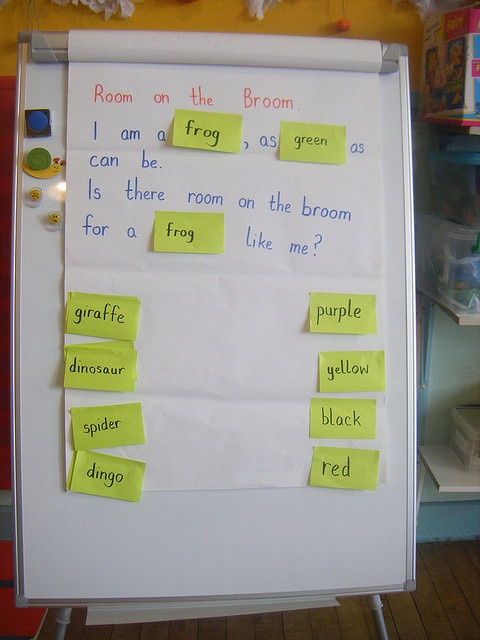 Room on the broom sentence innovation by Sunflower Lily, via Flickr
