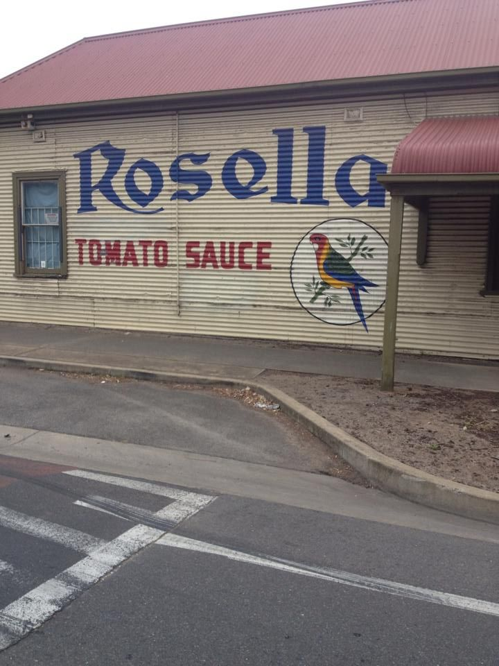 Vintage Rosella signage in Adelaide's suburb of Rosewater – Photo courtesy of Frank De Marco‎ #RosellaLove