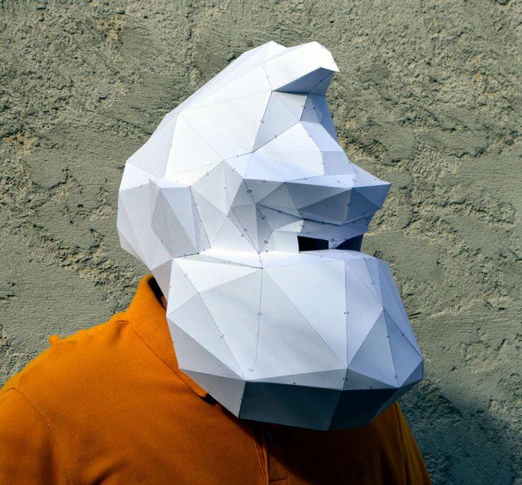 Donkey Kong Mask. | PaperCraft Mask | Paper Gorilla | Pixels Movie | Paper Mask | Paper Monkey | Paper Animals | Pixels | Paper Costume Mask by PlainPapyrus on Etsy
