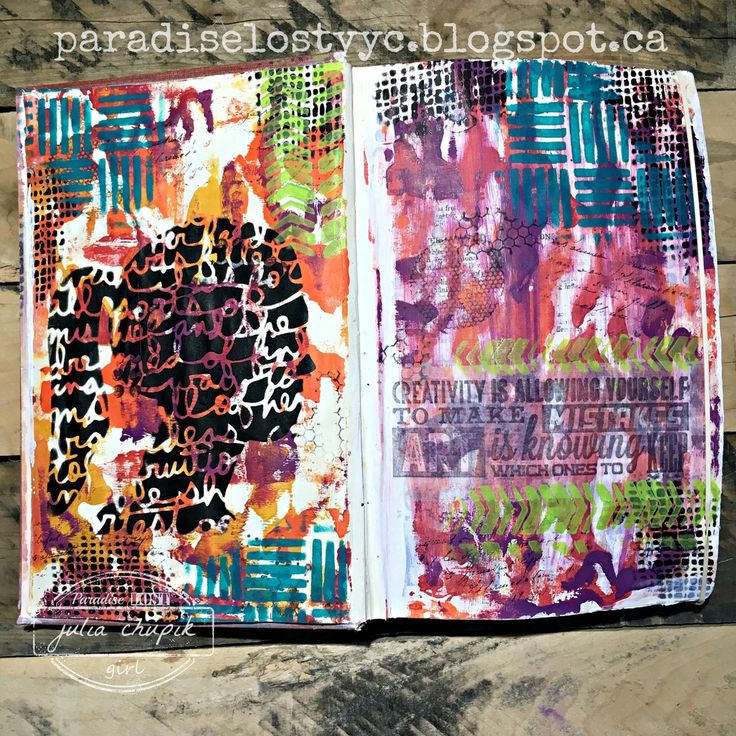 Welcome back!   I am still on a roll with creating pages in my calculus textbook art journal.     This page is full of colours and layers....