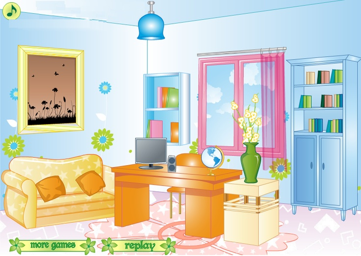 girly office decorating room decoration games room decoration games pinterest. Black Bedroom Furniture Sets. Home Design Ideas