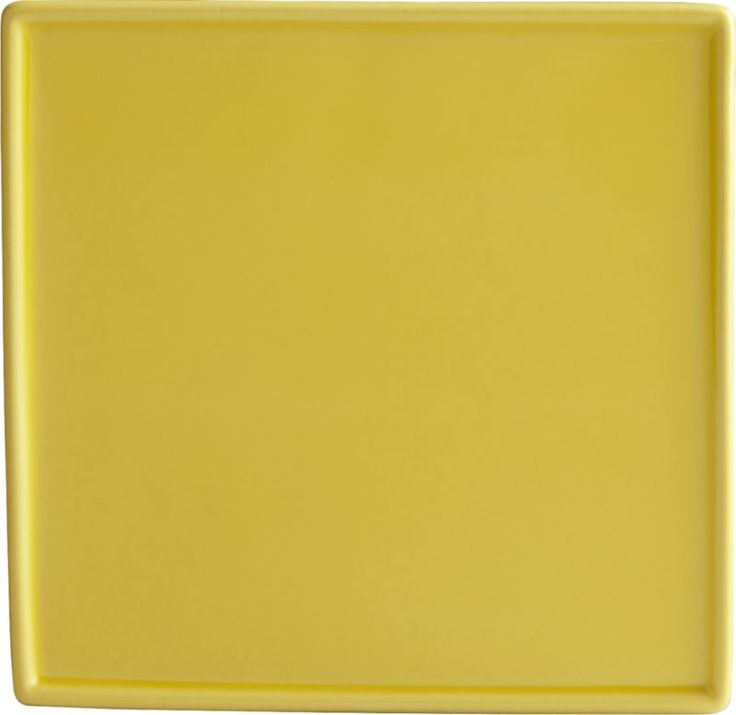 crewcut square yellow appetizer plate  | CB2